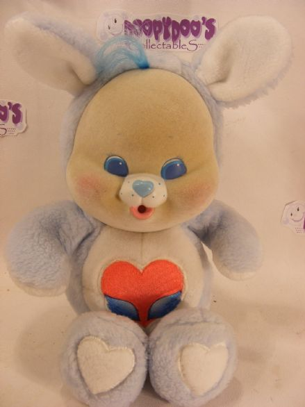 "VINTAGE 10"" SWIFT HEART RABBIT  CARE BEARS CUB"